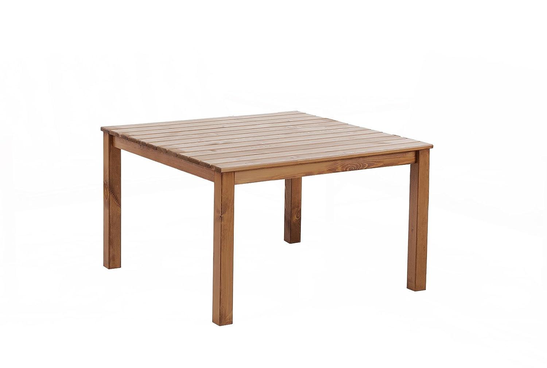 GARDENho.me Massivholz Tisch OSLO Gartentisch Esstisch Tisch Braun, ca. 116 x 116 x 70 cm jetzt kaufen