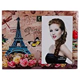 Purpledip Tabletop Glass Photo frame: The French Dream 4X6 inch picture size, Souvenir from Paris (10243)