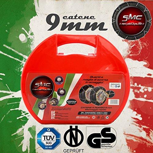CATENE DA NEVE OMOLOGATE SMC 9mm PER GOMME 205/55 R 16 GRUPPO 90