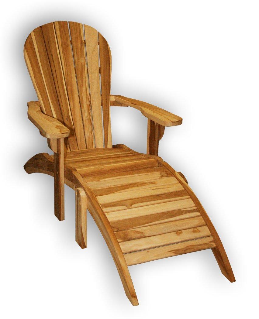 """KMH®, Adirondack Chair """"Classic"""" mit Fußablage (echt TEAK) (#102029) günstig online kaufen"""