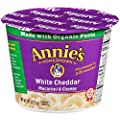 Annie's Microwavable Mac and Cheese Cup, White Cheddar Macaroni and Cheese, 2.01 Ounce (Pack of 12) from Annie's Homegrown