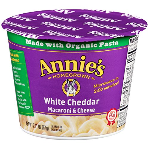 Annie's Microwavable Mac and Cheese Cup, White Cheddar Macaroni and Cheese, 2.01 Ounce (Pack of 12) (Mac And Cheese Annies compare prices)