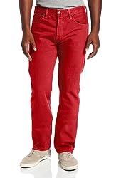 Levi's Men's 501 Original Fit Jean, Jester Red Garment Dye, 38x34