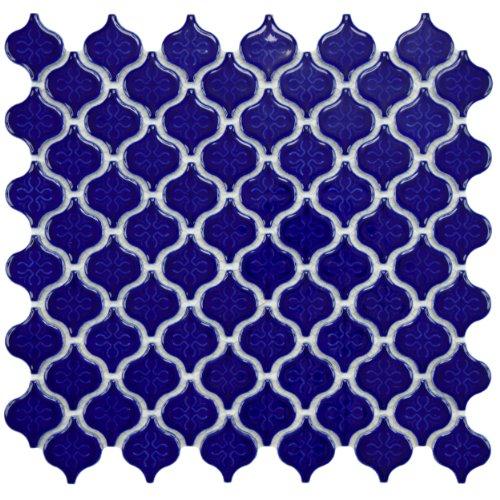 Beacon Mini Glossy Cobalt 10 3/4 x 11 1/4 Inch Porcelain Floor & Wall Tile (10 Pcs/8.4 Sq. Ft. Per Case, $1 Standard Shipping)