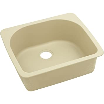 "Elkay ELGS2522SD0 Granite 25"" x 22"" x 8.5"" Single Bowl Top Mount Kitchen Sink, Sand"