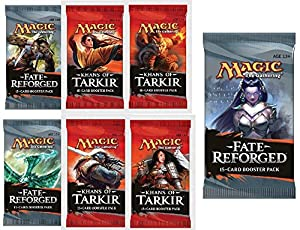 Magic: the Gathering: Fate Reforged 2 (Two) Player Booster Draft Set + Prize Pack (7 Total MTG Boosters)