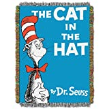 Dr. Seuss Cat Book Cover Tapestry Throw by The Northwest Company, 46 by 60