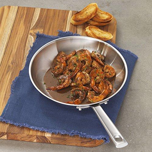 "Emeril Lagasse 62952 Stainless Steel Fry Pan, 10"", Silver"