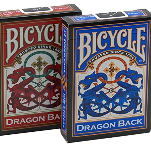 Red & Blue Dragon Playing Cards - 2 Decks