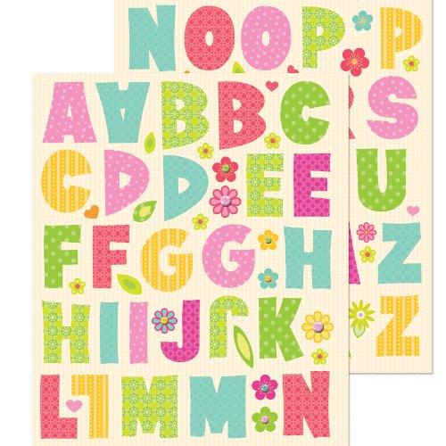 K&Company Alphabet Sticker Medley, 86-Piece