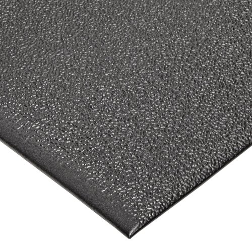 "NoTrax T41 Standard PVC Safety/Anti-Fatigue Comfort Rest Pebble Foam, For Dry Areas, 4' Width x 6' Length x 3/8"" Thickness, Coal"