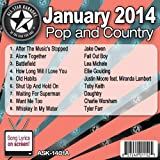 All Star Karaoke January 2014 Pop and Country Hits A (ASK-1401A)
