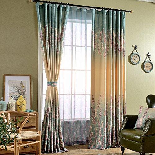 Duck River Rivietta Floral Linen 3 Piece Kitchen Curtain: Window Curtains