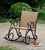 Valencia Resin Wicker / Steel Rocker (Matte Brown) (23″W x 41″H x 39″D)