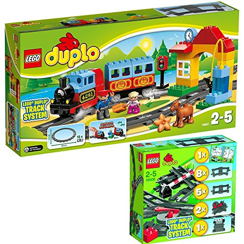 LEGO Duplo 2-teiliges Set 10506 10507 Eisenbahn-Zubehör-Set