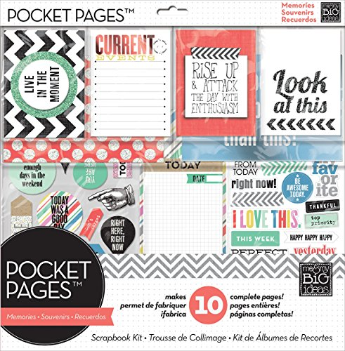 Pocket Pages Scrapbook Page Kit, Today Live in The Moment