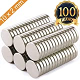 FINDMAG 100Pieces 10X2mm Premium Brushed Nickel Pawn Style Magnetic Push Pins,Fridge Magnets, Office Magnets, Dry Erase Board Magnetic pins, Whiteboard Magnets,Refrigerator Magnets (Color: Silver, Tamaño: 100P10x2mm)