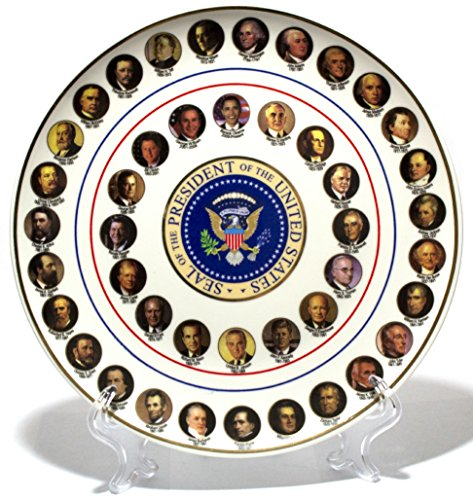 Presidential Ceramic Collector's Plate with Display Stand