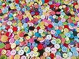 Knöpfe für Kinder RUND, Punkte,Karo und UNI Farben Knopf Kinderknöpfe Bunt Mix Scrapbooking Mischung 11-15 mm zu 100 Stück (Farbauswahl ist leider nicht möglich) von HdK-Versand