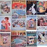 Set of 14 British Reproduction Vintage Advertising Postcards - Rothwell's, Lyles Golden Syrup, Komo, Concrete, Trumans, Robin Starch, Cerebos, Lyle's Pure Confectionery, Palmer Tyres, Laird's Scotch Whisky, Liebig's, etc