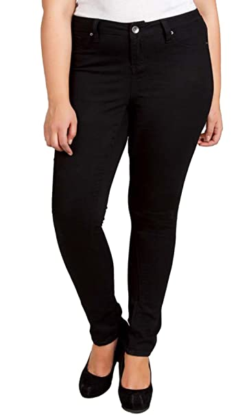 Black skinny pants plus size