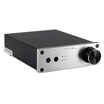 S.M.S.L SA60 60W * 2 Hi-Fi Ampli/Amplificateur stéréo numérique pour anniversaires, fête noël, concerts, musique au supermarché etc.couleur: argent