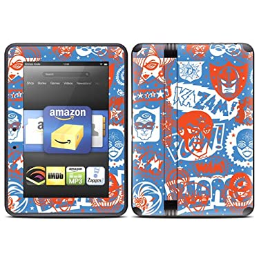 """Kindle Fire HD (fits only 7"""" previous generation) Skin Kit/Decal - Comic Hero"""