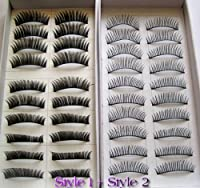 20 Pairs Regular Long and Thick Eyelashes Style 1 and 2 from Unknown