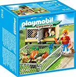 Playmobil 6140 Enfant avec enclos à lapins et clapier