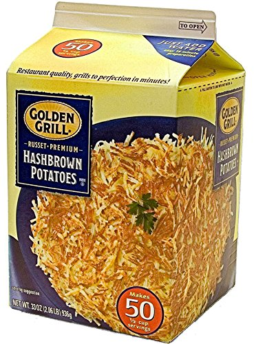 GOLDEN GRILL Russet Premium Hashbrown Potatoes 33 oz. Makes 50 Servings (Freeze Dried Hash Browns compare prices)
