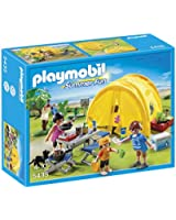 Playmobil - 5435 - Figurine - Famille Et Tente De Camping