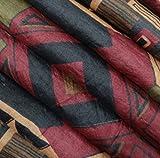 Vintage Saree Silk Blend Brown Abstract Printed Indian Sari Recycled Craft Fabric Women Wrap Dress Home Décor Curtain Drape