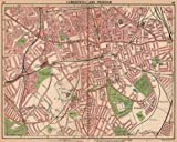 LONDON S:Camberwell Peckham Nunhead Herne Hill Dulwich Rye.Tram routes, 1913 map