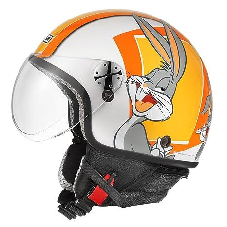 AXO mS1P0016 o00 casque jet subway taille m :  warner, orange