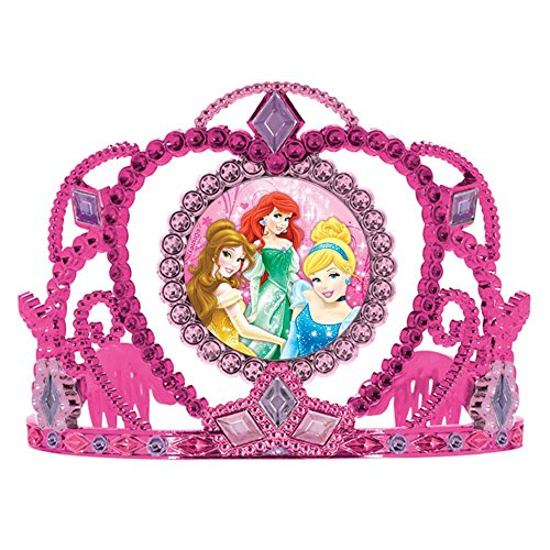 "Amscan Disney Princess Sparkle Tiara, Pink/Purple, 3 1/2"" x 4 1/2"""