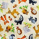 Dritz 35292 Babyville PUL 64-Inch Waterproof Diaper Fabric, 6-Yard, Forest Friends (Tamaño: 6 Yards)