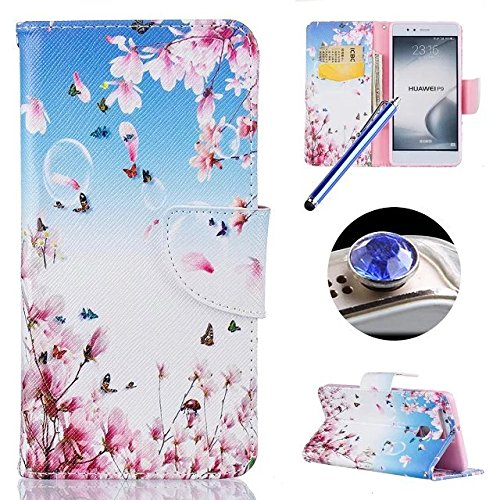 huawei-p9-casehuawei-p9-leather-caseetsue-cute-pink-flower-butterfly-pattern-pu-leather-wallet-case-