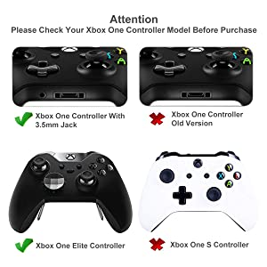 EMiEN 2 Pack Black Silver Bumpers LB RB Triggers Gamepad Buttons Repair Parts Replacement for Xbox One Elite Controller & Xbox One with 3.5mm headphone jack Versions ,T6 T8 Screwdriver Repair Tool Kit (Color: Black)