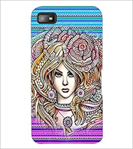 PrintDhaba Fantasy Girl D-6005 Back Case Cover for BLACKBERRY Z10 (Multi-Coloured)