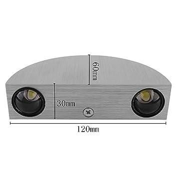 Amzdeal® Modern Halbrund Led Wandleuchte Wandlampe Flurlampe  Energiesparlampe Mit Gebürstetem Vollaluminium Gehäuse Warmweiß (Kaltweiß)    Us160