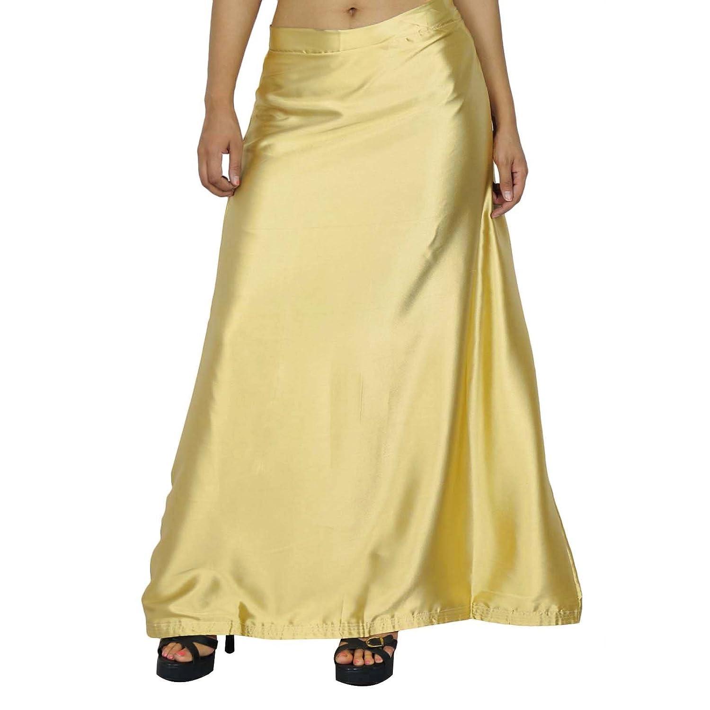Fertige Inskirt Futter für Sari Indian Silk Satin Petticoat Geschenk für Frauen