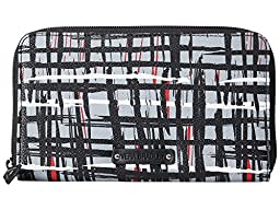 Vera Bradley Women\'s Accordion Wallet Black/White Art Plaid Clutch