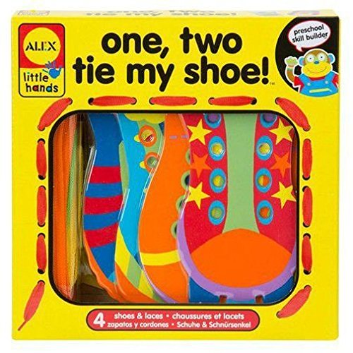 ALEX Toys Little Hands Lacing One, Two, Tie My Shoe - 1