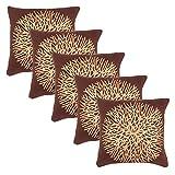 Eccellente Brown Designer Velvet Cushion Cover 24 X 24 Set Of 5