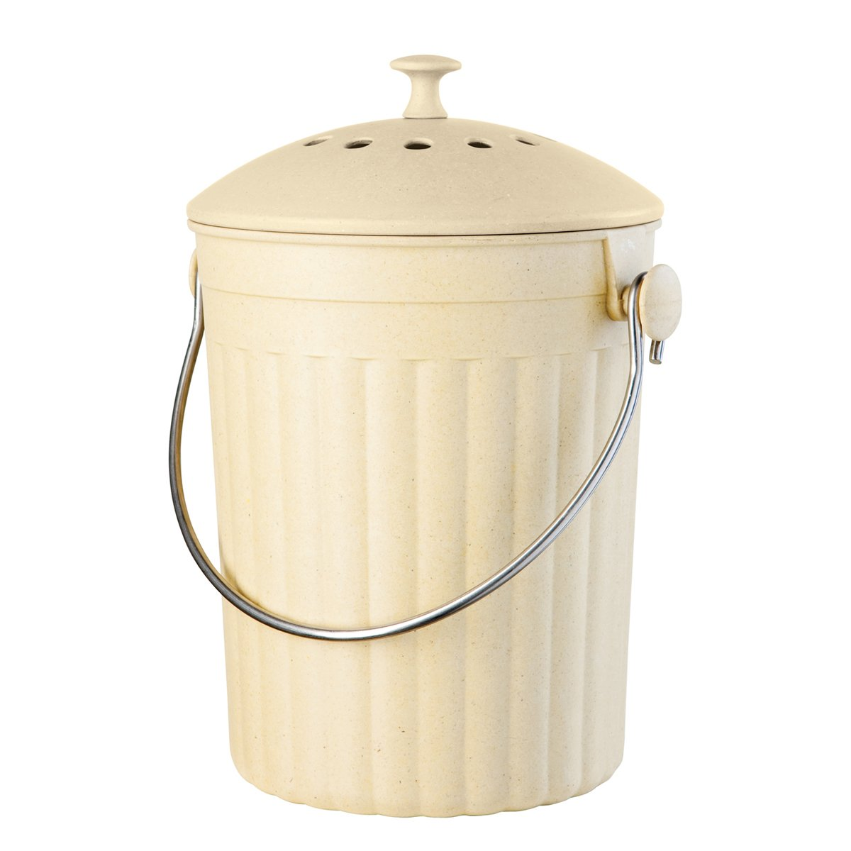 Oggi Countertop Compost Pail With Charcoal Filter Made From Bamboo Fiber New Ebay