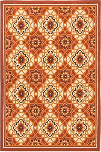 EcarpetGallery 142956 Tropicana Indoor/Outdoor Rug, 6'7