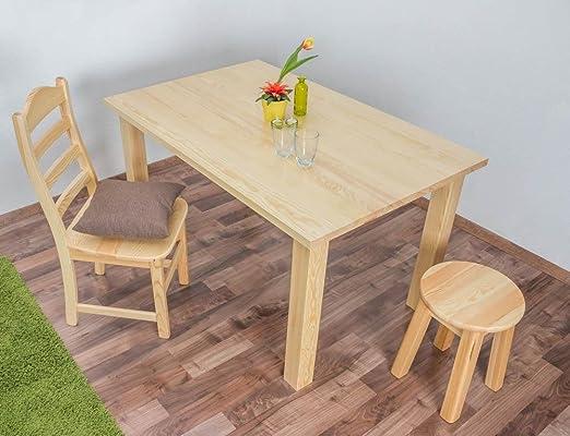 Tisch 90x140 cm Kiefer massiv, Farbe: Natur
