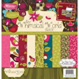 Paper Stacks 12 x 12-inch Diecuts Paper Pad Whimsical World Stack, Pack of 48 Sheets
