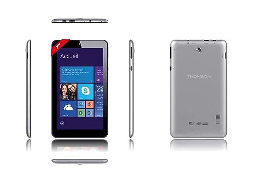 """Thomson TH-INT7W16 Tablette tactile 7"""" (17,78 cm) (16 Go, Windows 8.1, 1 Prise jack, Gris)"""