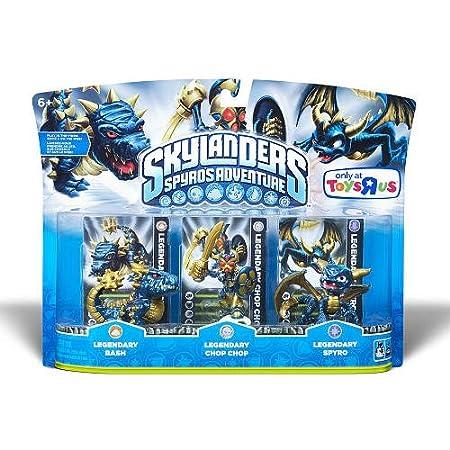 Skylanders Spyros Adventure Mini Figure Character 3Pack Legendaries Spyro Legendary, Chop Chop Legendary BashLegendary